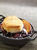Individual Blueberry and Nectarine Cobbler