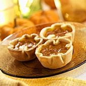 Three Mini Pumpkin Pies