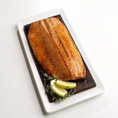 Grilled Salmon Fillet on Cedar Grilling Plank