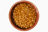 Bowl of Organic Baked Beans