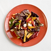 Radicchio Salad with Golden Beets, Blood Orange and Goat Cheese