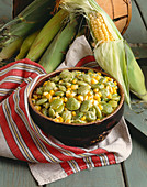 Bowl of Succotash; Ears of Corn