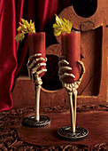 Bloody Marys in Skeleton Hand Glasses