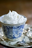 Whipped Cream in a Small Bowl