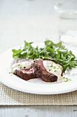 Sliced Beef Tenderloin with Horseradish Sauce