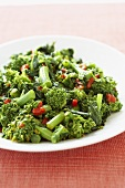 Chopped Broccoli Rabe on a Plate