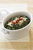 Creamed Spinach in Baking Dish