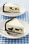 Two Slices of Oreo Cheesecake