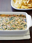 Baked Spinach Dip in Casserole Dish