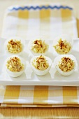 Crabby Deviled Eggs; Deviled Eggs with Crab Meat