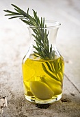 Olive Oil Infused with Rosemary and Garlic