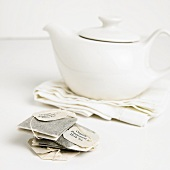 Organic Peppermint Tea Bags with Tea Pot
