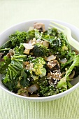 Green Stir Fry with Onions and Sesame Seeds