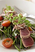 Seared Ahi Over Green Bean Salad