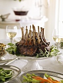Rack of Lamb on Dinner Table