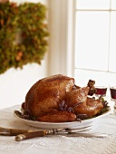 Whole Roast Turkey on a Platter