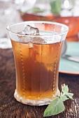 Glass of Fresh Mint Infused Tea