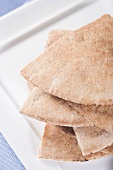 Whole Wheat Pita Bread; Stacked