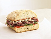 Roast Beef and Blue Cheese Sandwich on Artisan Bread