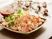 Shrimps mit Cocktailsauce