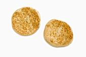 Plain Toasted English Muffin on White