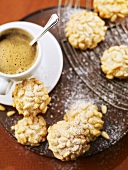 Paste ai pinoli (Marzipan cookies with pine nuts, Italy)