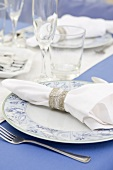 Place Setting in Chanukah Table