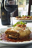 Fried Eggplant Rollatini; With Red Wine