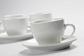 Kaffeetassen mit Unterteller