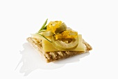 Cheese and Jalapeno on a Cracker