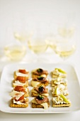 Platter of Hors D'Oeuvres; White Wine