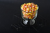 Glass Dish of Candy Corn