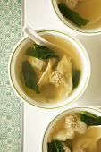 Bowls of Wanton Soup; From Above