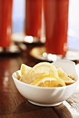 Small Bowl of Lemon Wedges; Bloody Marys