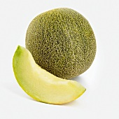 Whole Persian Melon with Slice
