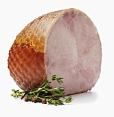 Ham on White Background