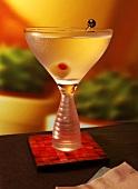 Single Martini on Coaster