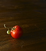 Fresh Picked Tomato with Stem and Baby Green Tomato