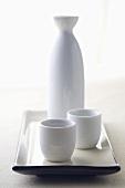 White Sake Set