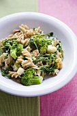 Pasta with Broccoli, Watercress and Stilton Cheese