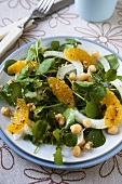 Fennel and Watercress Salad with Oranges and Chickpeas