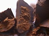 Dark Chocolate Chunks with Cocoa Powder