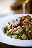 Collard Greens and Andouille Sausage Sauteed with Cannellini Beans