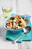 Seafood Casserole in Fish Shape Bowl