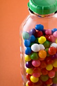 Bottle of Colorful Retro Gumballs