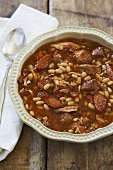 Slow Cooker Cassoulet; White Bean, Pork and Sausage Stew