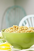 Crockpot White Beans in a Green Bowl