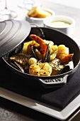 Seafood Bouillabaisse in Cast Iron Pot