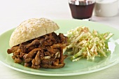 Barbecue Pork Sandwich with Cold Slaw