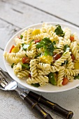 Rotini with Summer Vegetables; Fork and Spoon